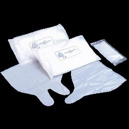 Doigtiers polyéthylène pliés 1 ou 2 doigts stériles (sachet de 100)