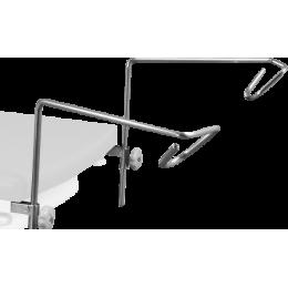 Paire d'étriers (sans étaux) pour divan ou fauteuil d'examen Promotal
