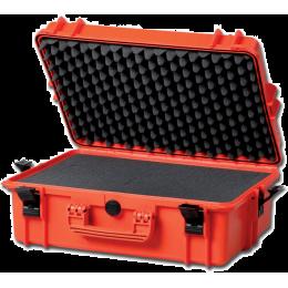 Valise rigide IP67 avec mousse - moyenne - orange