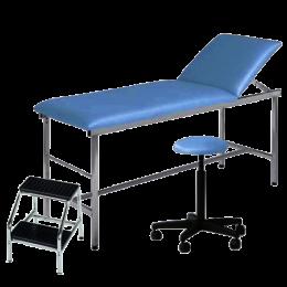 Pack cabinet médical avec divan d'examen, tabouret et marchepied